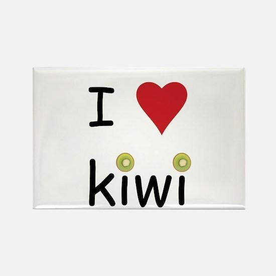 I Love Kiwi Rectangle Magnet (10 pack)