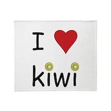 I Love Kiwi Throw Blanket