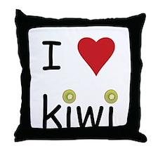 I Love Kiwi Throw Pillow