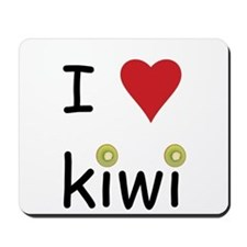 I Love Kiwi Mousepad