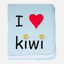 I Love Kiwi baby blanket