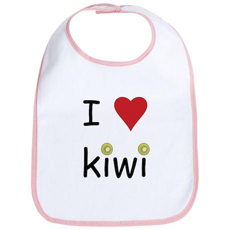 I Love Kiwi Bib