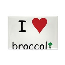 I Love Broccoli Rectangle Magnet (100 pack)