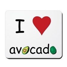I Love Avocado Mousepad