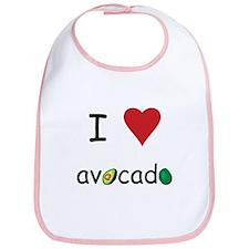 I Love Avocado Bib