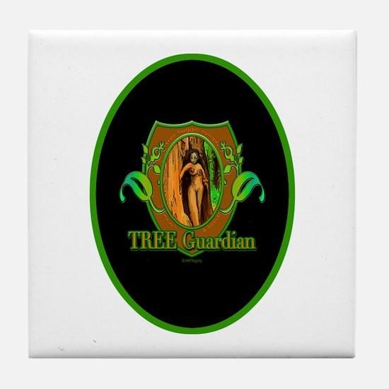 Tree Guardian Tile Coaster