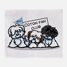 I Love Cotons Throw Blanket