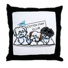 I Love Cotons Throw Pillow