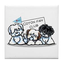 I Love Cotons Tile Coaster
