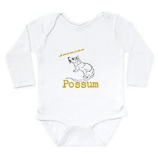 Dark Awesome Possum Long Sleeve Infant Bodysuit