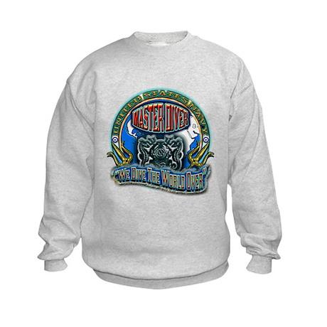 US Navy Master Diver Kids Sweatshirt