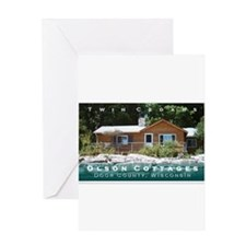Olson Cottages Door County Greeting Card