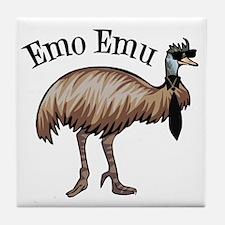 Emo Emu Tile Coaster