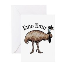 Emo Emu Greeting Card