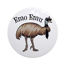 Emo Emu Ornament (Round)