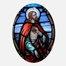 Sacred Heart Ornament (Oval)