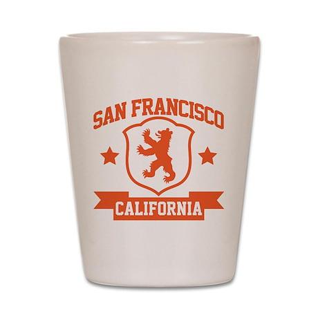 San Francisco Heraldry Shot Glass