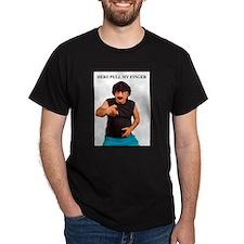 Pull my finger Black T-Shirt