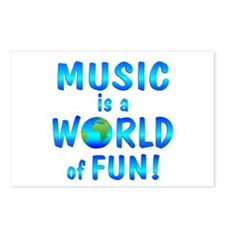 World of Music Postcards (Package of 8)
