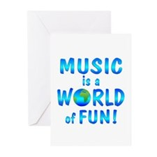 World of Music Greeting Cards (Pk of 10)