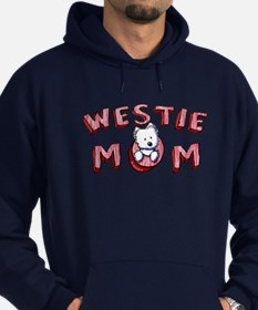Westie Mom (Red) Hoodie (dark)