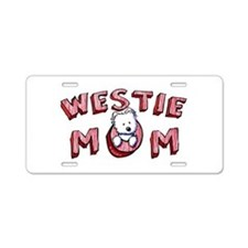 Westie Mom (Red) Aluminum License Plate