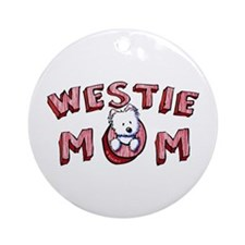 Westie Mom (Red) Ornament (Round)