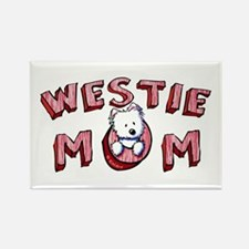 Westie Mom (Red) Rectangle Magnet (100 pack)