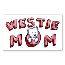 Westie Mom (Red) Decal