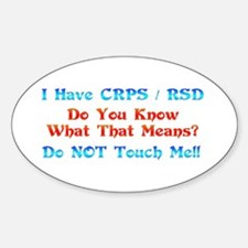 I Have CRPS/RSD Don't Touch M Decal