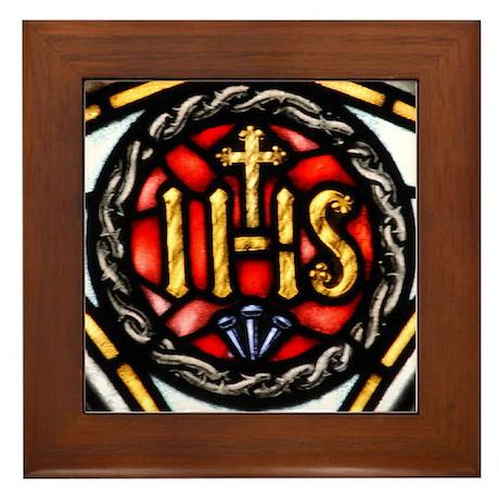 Society of Jesus (Jesuit) Emb Framed Tile