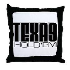 """Texas Hold'em"" Throw Pillow"