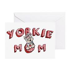 Yorkie Mom Greeting Cards (Pk of 20)