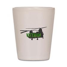 Vietnam Chinook Shot Glass