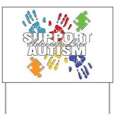 Support Autism Handprints Yard Sign