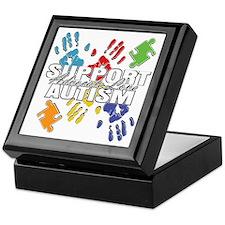 Support Autism Handprints Keepsake Box