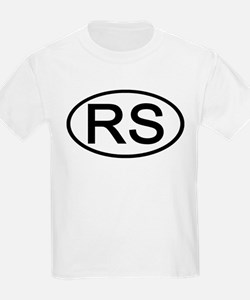 RS - Initial Oval Kids T-Shirt