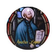 St Ignatius Loyola Ornament (Round)
