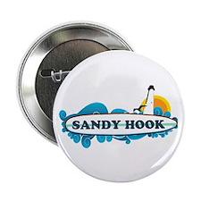 "Sandy Hook NJ - Surf Design. 2.25"" Button"