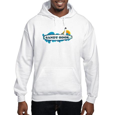Sandy Hook NJ - Surf Design. Hooded Sweatshirt