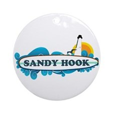 Sandy Hook NJ - Surf Design. Ornament (Round)