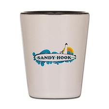 Sandy Hook NJ - Surf Design. Shot Glass
