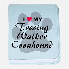 Treeing Walker Coonhound baby blanket
