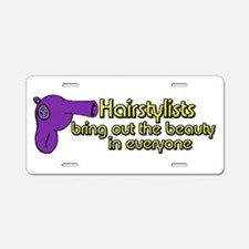 Hairstylists Aluminum License Plate