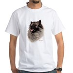 Keeshond White T-Shirt
