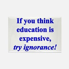 Education quote (blue) Rectangle Magnet (10 pack)