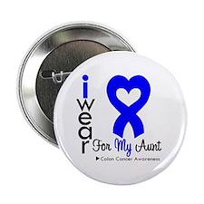 """Aunt - Colon Cancer 2.25"""" Button (100 pack)"""