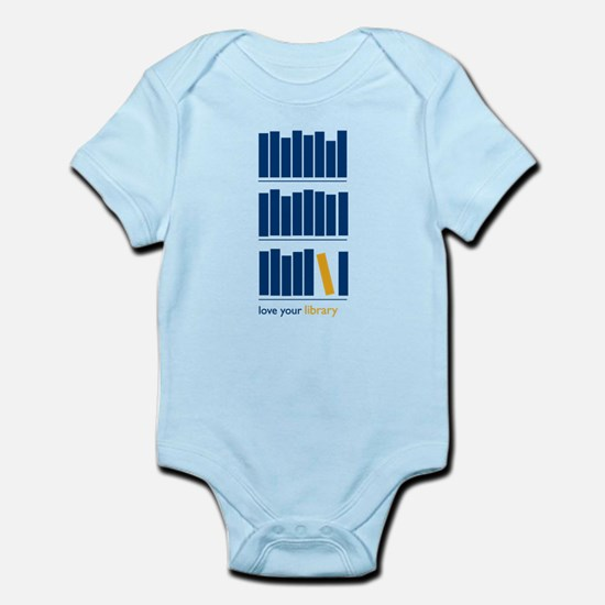 Love Your Library (Blue) Body Suit