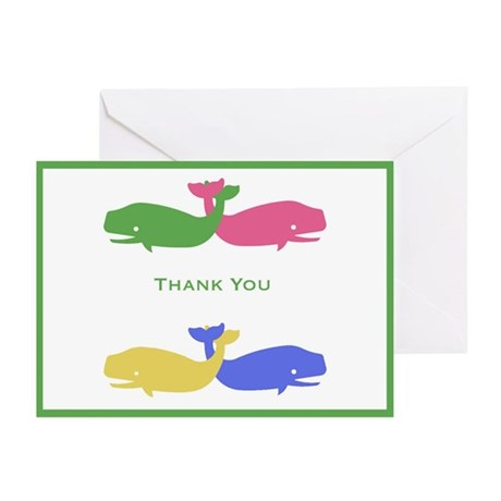 Pastel Whale Thank You Cards (Pk of 10)