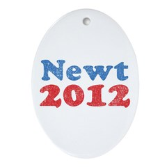 Newt 2012 2 Ornament (Oval)